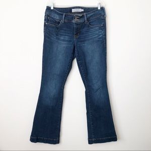 Torrid Flare Leg Jeans Stretch Medium Blue Denim